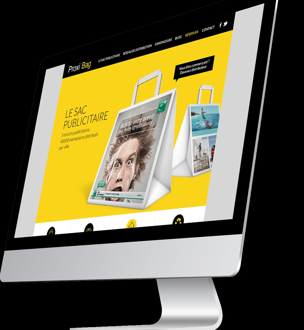 Design site internet Sacs Publicitaires