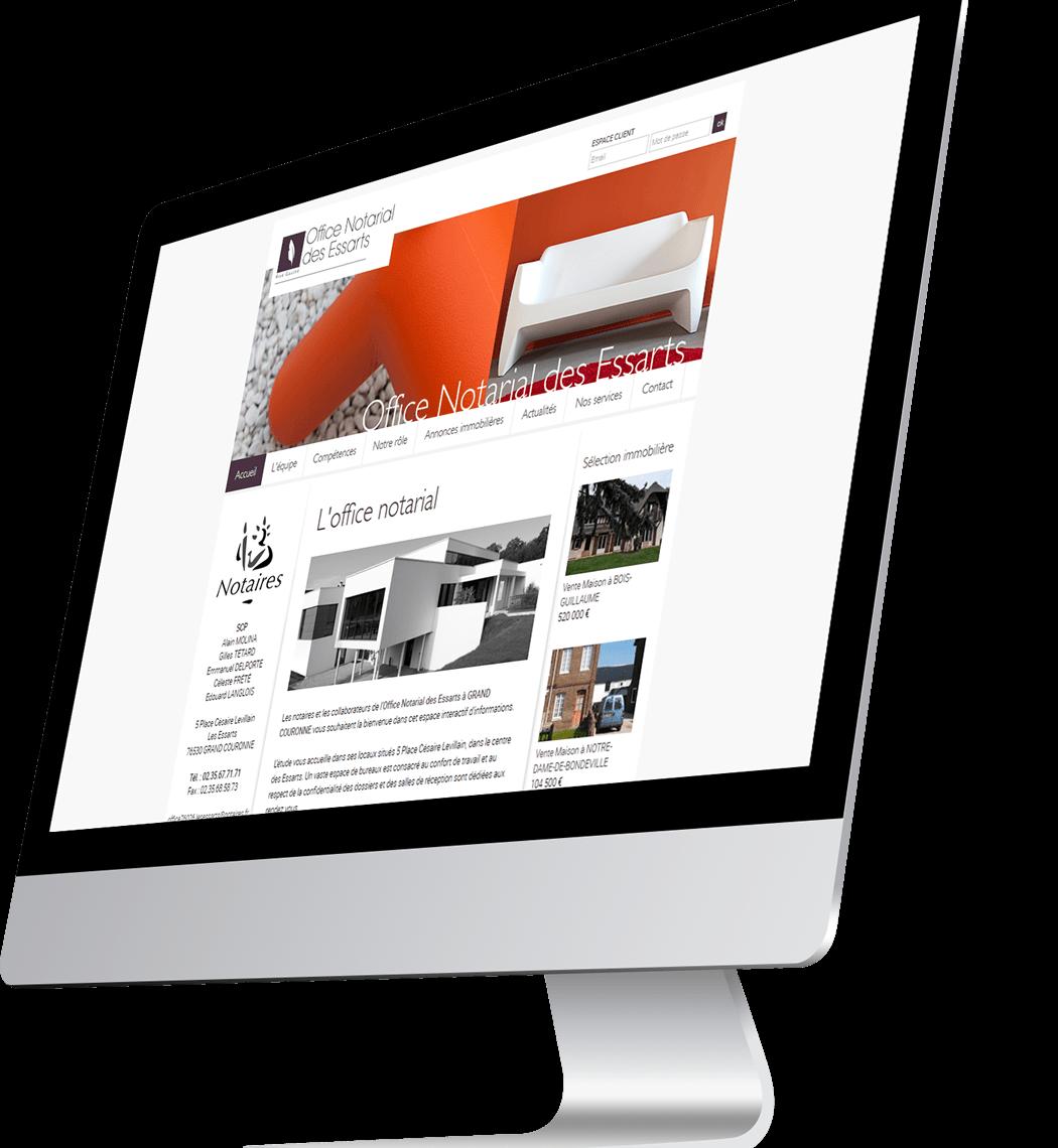 Développement site internet Notaires Grand-Couronne
